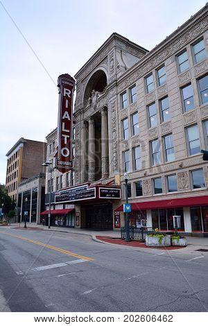 Rialto Square Theater  In Joliet, Illinois.