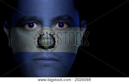 Salvadoran Flag - Male Face