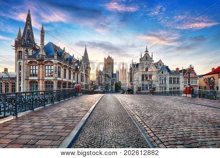 Ghent Belgium at day Gent old town