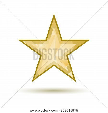 Gold Star Background Vector Photo Free Trial Bigstock