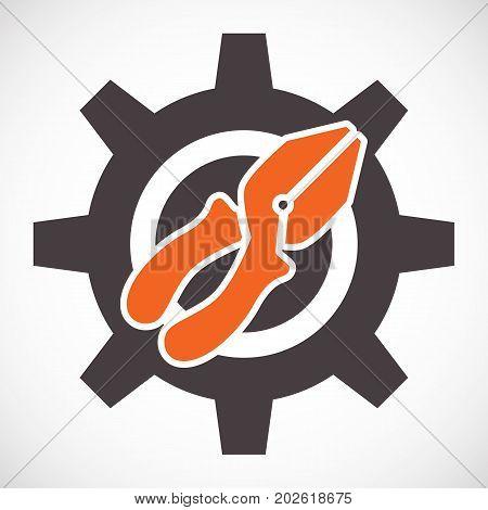 Pliers Icon Or Service Tools Symbol