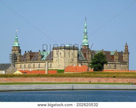 Kronborg, UNESCO World Heritage Site in the town of Helsingor, Denmark