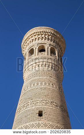 Minaret of Khoja Kalon in Bukhara Uzbekistan
