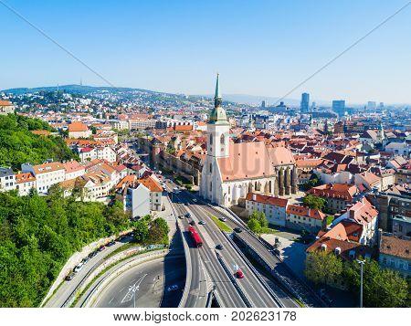 Bratislava Aerial Panoramic View