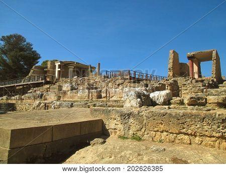 Knossos, UNESCO World Heritage Site on Crete Island of Greece