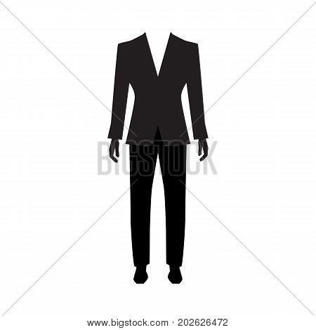 Man suit icon isolated on white background. Men formal suit symbol