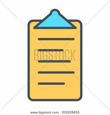 Checklist line icon. Clipboard symbol in outline style. Todo list vector linear pictogram