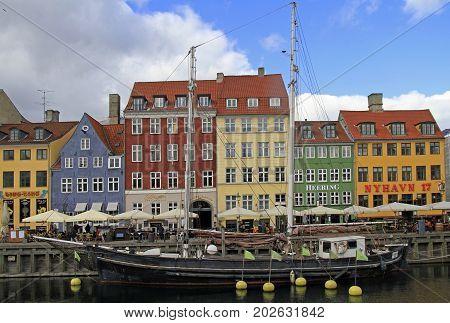 Nyhavn District Is One Of The Most Famous Landmark, Copenhagen