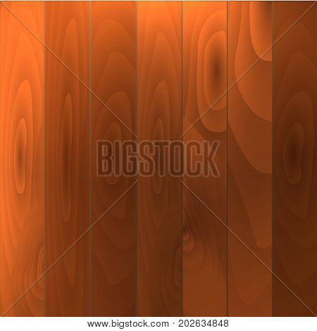 Realistic Wood Floor And White Wall Eps10 Vector Illustration