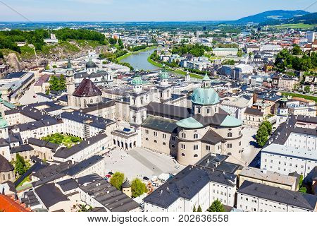 Salzburg Aerial Panoramic View