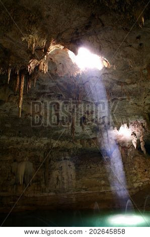 Traditional cenotes in the region of Cancun, Mexico