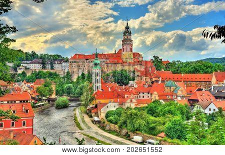 View of Cesky Krumlov town, a UNESCO heritage site in South Bohemia, Czech Republic