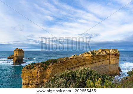 Razorback Rock Formation Along Great Ocean Road, Victoria, Australia