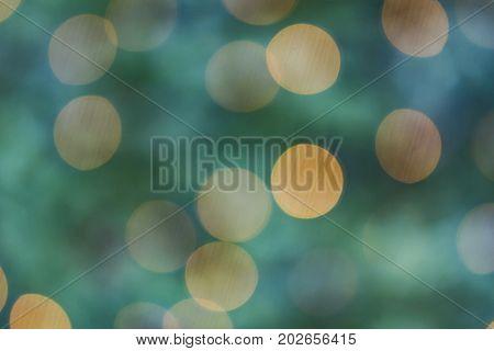 Beautiful green Bokeh in detail as Background