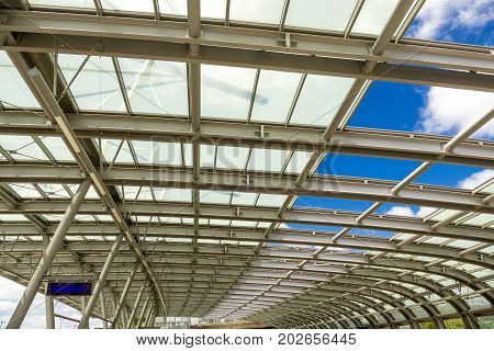 Detail from canopy of bus station in Wetzlar Germany