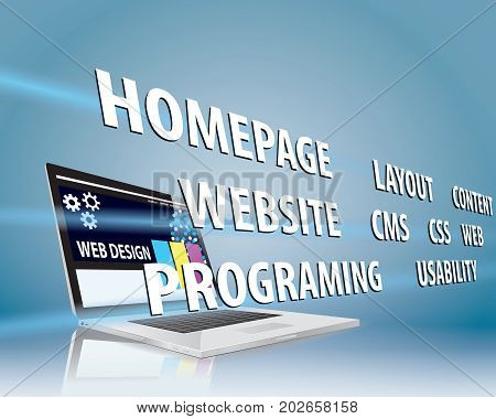 Internet Web Design Concept