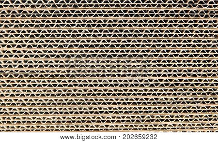 Stack of Corrugated Cardboard Sheets, texture background