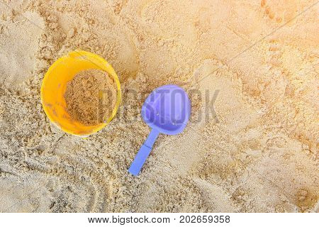 Children's beach toys on the sand Toys for children sandboxes on the beach activity for kid.