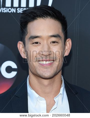 LOS ANGELES - AUG 28:  Mike Moh arrives for the Marvel's