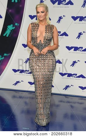 LOS ANGELES - AUG 27:  Bebe Rexha arrives for the MTV Video Music Awards 2017 on August 27, 2017 in Inglewood, CA