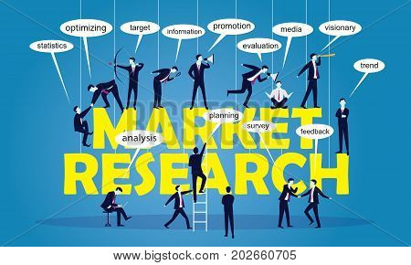 Business Marketing Teamwork Research Concept