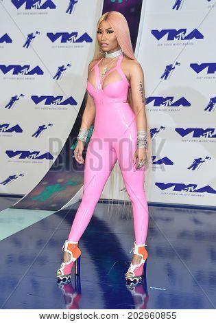 LOS ANGELES - AUG 27:  Nicki Minaj arrives for the MTV Video Music Awards 2017 on August 27, 2017 in Inglewood, CA
