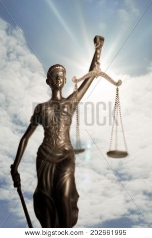 Lady of Justice and light of God