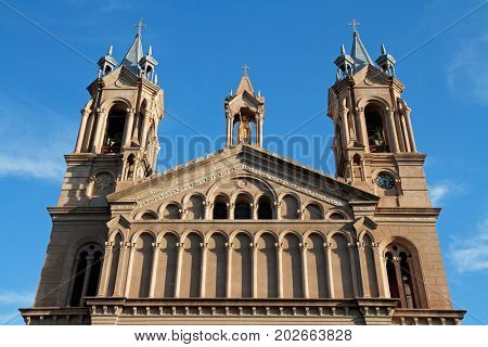 Cathedral San Nicolas de Bari in the city of La Rioja, Argentina