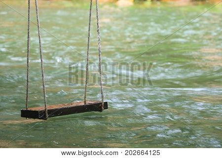 Swing on the beautiful current .Swing background .