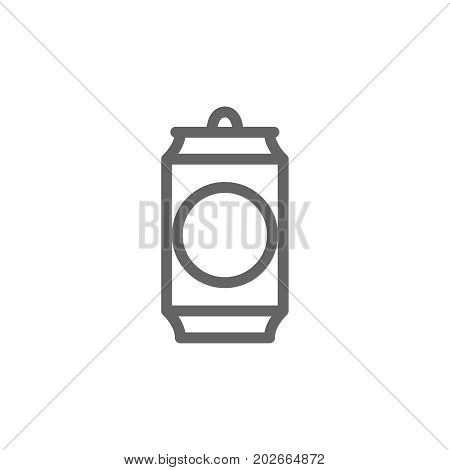 Simple beer can line icon. Symbol and sign vector illustration design. Editable Stroke. Isolated on white background