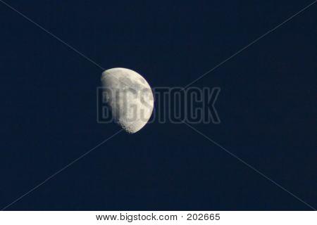 Half Moon In A Dark Sky