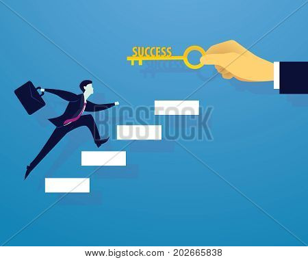Businessman With Key Of Success
