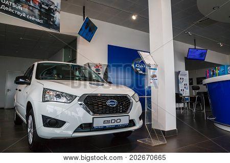 Showroom And Car Datsun Of Dealership Prestig Avto In Kirov City