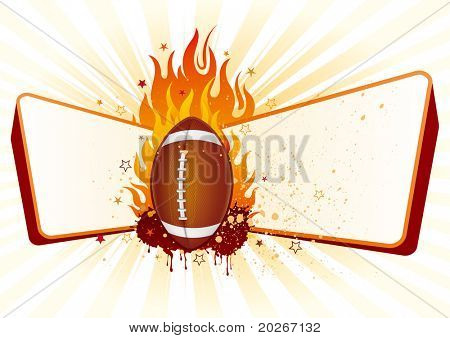 flame,american football design element