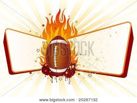 Flamme, US-amerikanischer american-Football-Design-element