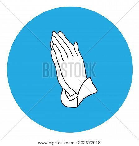vector illustration of praying hands icon religious