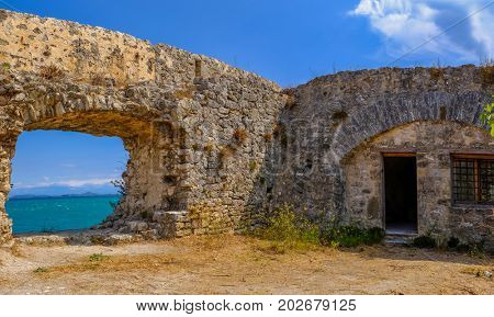 Castle of Ayia Mavra at Lefkada island, Greece