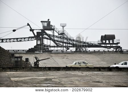 CHORTKIV - Ukraine - November 22 2011. Chortkiv sugar factory. Industrial facilities and buildings. Today the plant owned by LLC