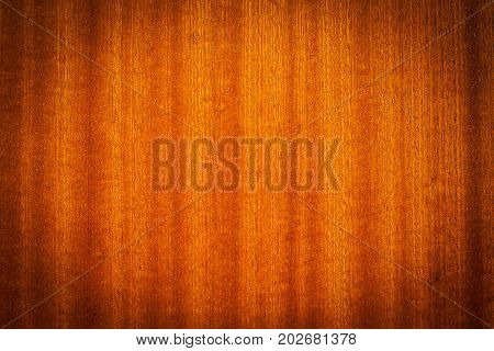 Wooden cupboard texture with vertical light and dark line lacquer and vignetting