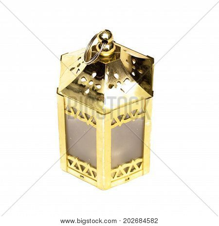 Christmas lantern lamps isolated on white background.