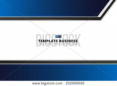 Professional business flyer template or corporate banner design in dark blue and black colors with space for your text can be use for publishing print and presentation Vector illustration