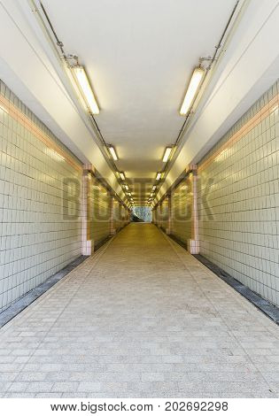 Tunnel Of Underground Crossing At Fort Canning Park, Singapore