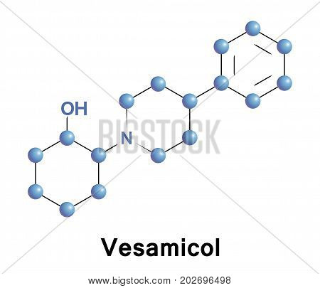 Vesamicol is an experimental drug acting presynaptically by inhibiting acetylcholine uptake into synaptic vesicles and reducing its release
