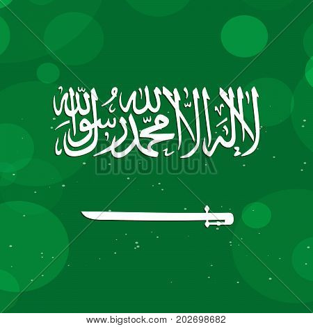 illustration of Saudi Arabia flag background on the occasion of Saudi Arabia National Day
