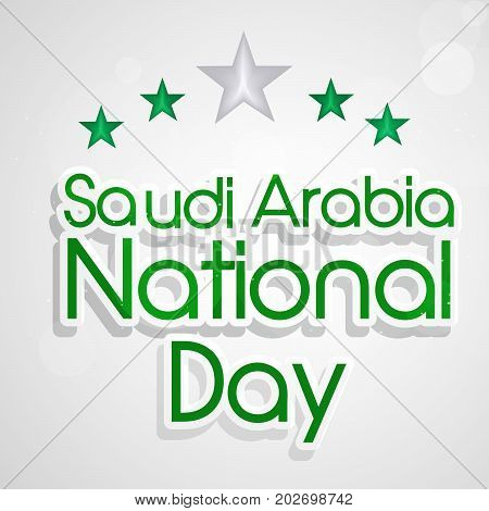 illustration of stars and Saudi Arabia National Day text on the occasion of Saudi Arabia National Day