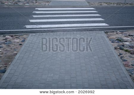 Empty Pedestrian Crossing.