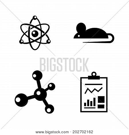 Experiment. Simple Related Vector Icons Set for Video, Mobile Apps, Web Sites, Print Projects and Your Design. Black Flat Illustration on White Background.