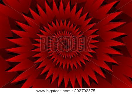 Star red abstract vector pattern , Concentric star shapes - red