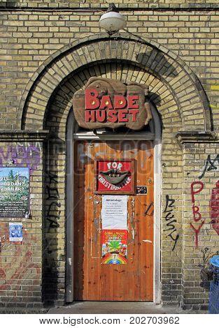 Interestingly Decorated Door To Some Club In Christiania, Copenhagen