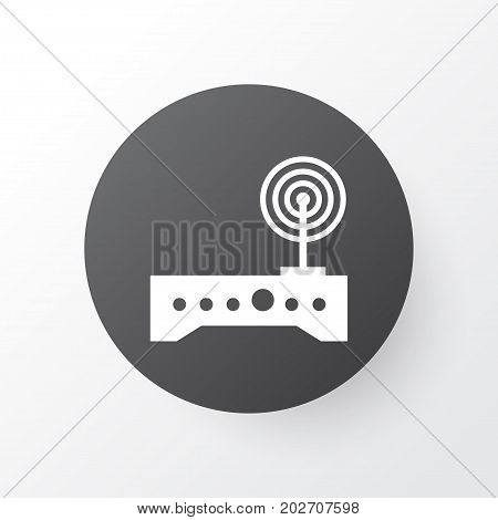 Premium Quality Isolated Router Element In Trendy Style.  Wifi Modem Icon Symbol.